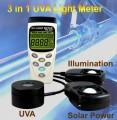Datalogging 3 in 1 UV Light Meter